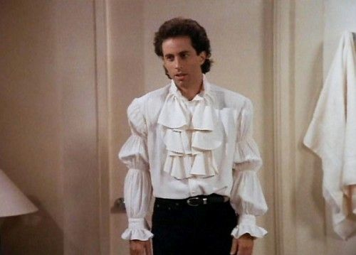 B It 39 S Like Wearing A Wedding Dress On Your Chest B Here Are Some Modern Takes On The Infamous Puffy Shirt Seinfeld Puffy Shirt Jerry Seinfeld Seinfeld