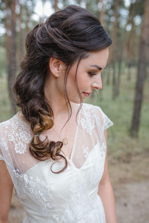 Brautfrisur Locker Geflochtener Zopf Hairstyle Bridalhair