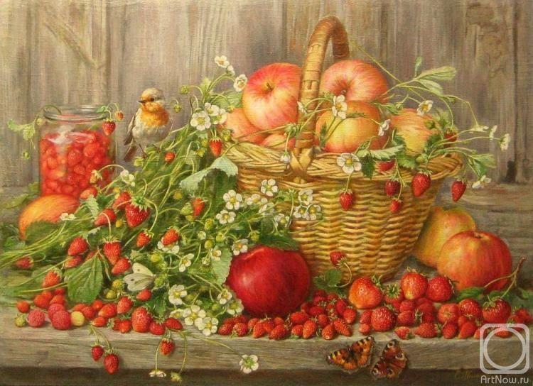 Картина маслом на холсте «Натюрморт. Дары лета» (With ...
