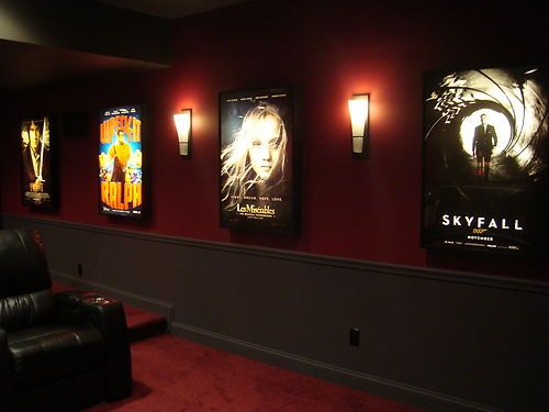 Movie poster light box display frame cinema lightbox light for 007 room decor