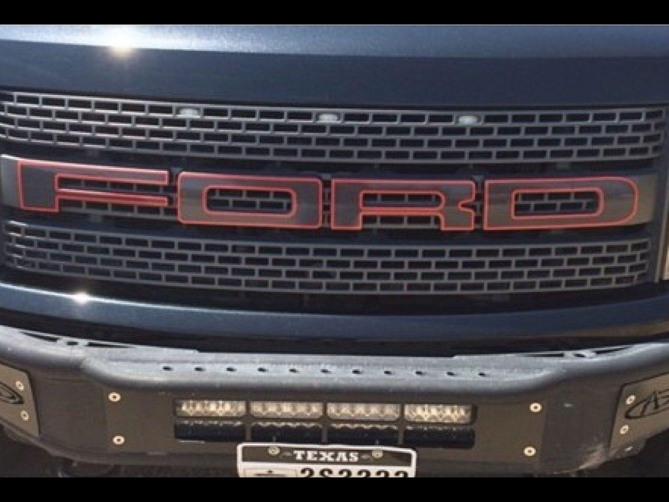 Ford Raptor Svt F 150 Grille Letters W Outlines Stickers Vinyl Decals 2014 Ford Raptor Ford Raptor Svt Ford Rapter