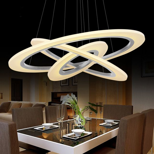 Moderne LED salle à manger salon pendentif lumières luminaire - lustre pour salle a manger