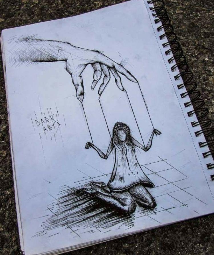 D A R K Dark Art Drawings Scary Drawings Art Drawings Sketches