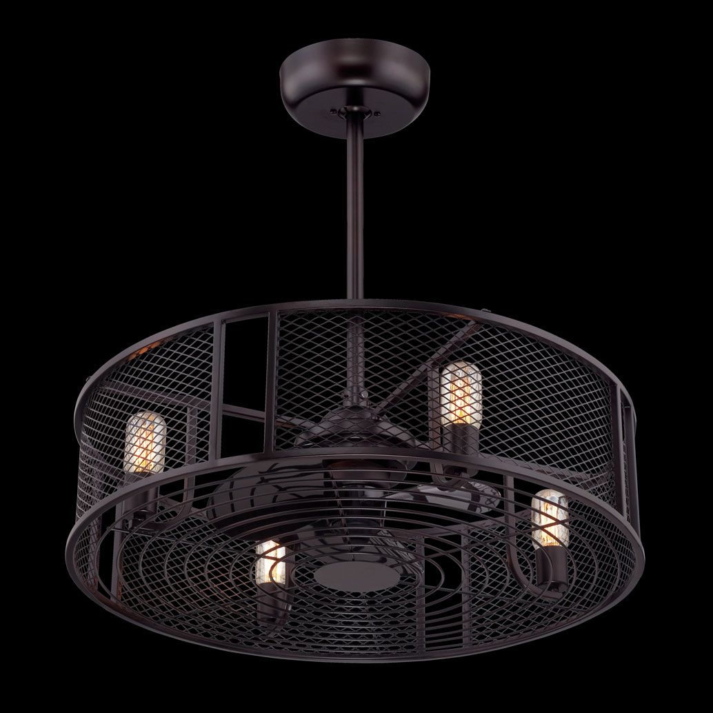 The Jarvis Pendant Ceiling Fan Combination Features An Aged Bronze Finish Four 60 Watt 120 Volt Edison Bulb Modern Ceiling Fan Chandelier Lighting Ceiling Fan
