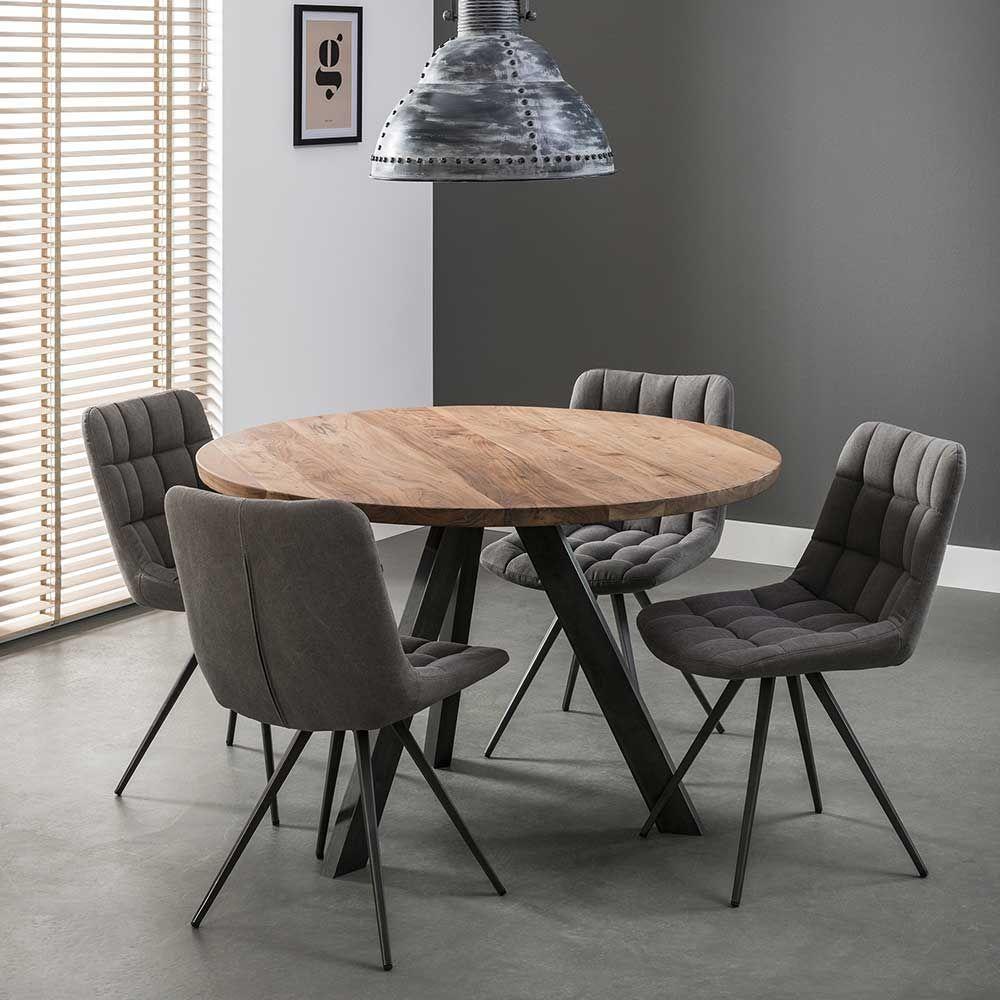 Esszimmertisch aus Akazie Massivholz Rund Jetzt bestellen unter ...