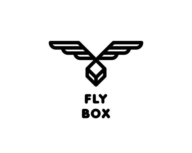 Fly Box Logo Design Logomark Logotype Box Package Wings