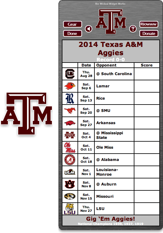 Pin On Officially Licensed College Football Schedule Dashboard Widgets