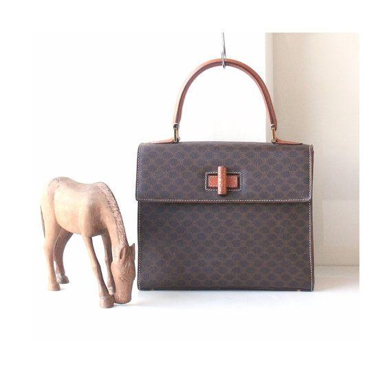b7bf96b4848 Celine Tote Bags Macadam vintage handbag Brown Authentic by hfvin ...