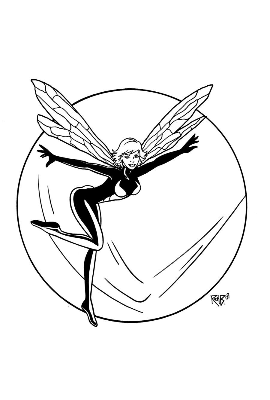 Wasp By Richbernatovech On Deviantart Wasp Marvel Marvel Comics