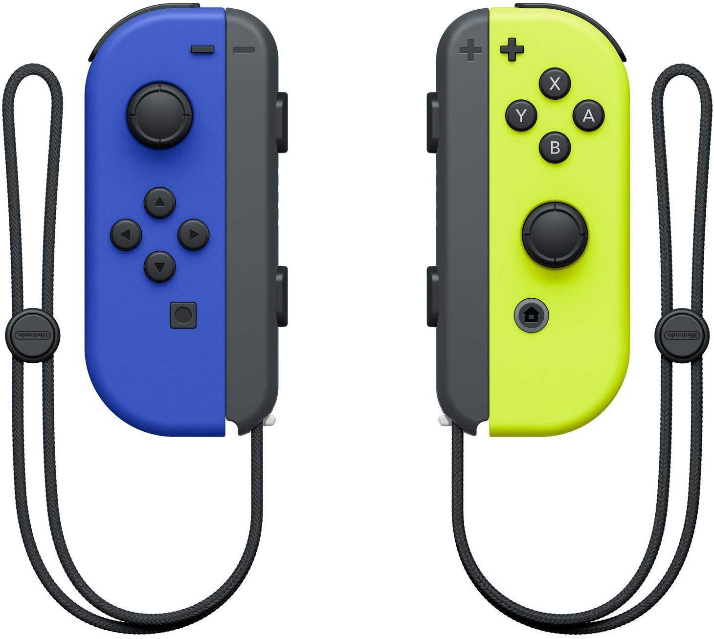 Nintendo Switch Joy Con Controller Blue Yellow Nintendo Switch Cool Things To Buy Neon Purple