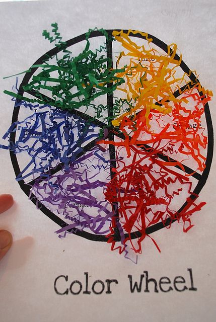 Color Wheel Craft Color Preschool Theme Pinterest Teaching