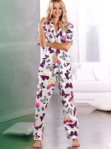 Butterflies are free.. COTTON MAYFAIR PAJAMA   from Victoria s Secret 0db1a59c1