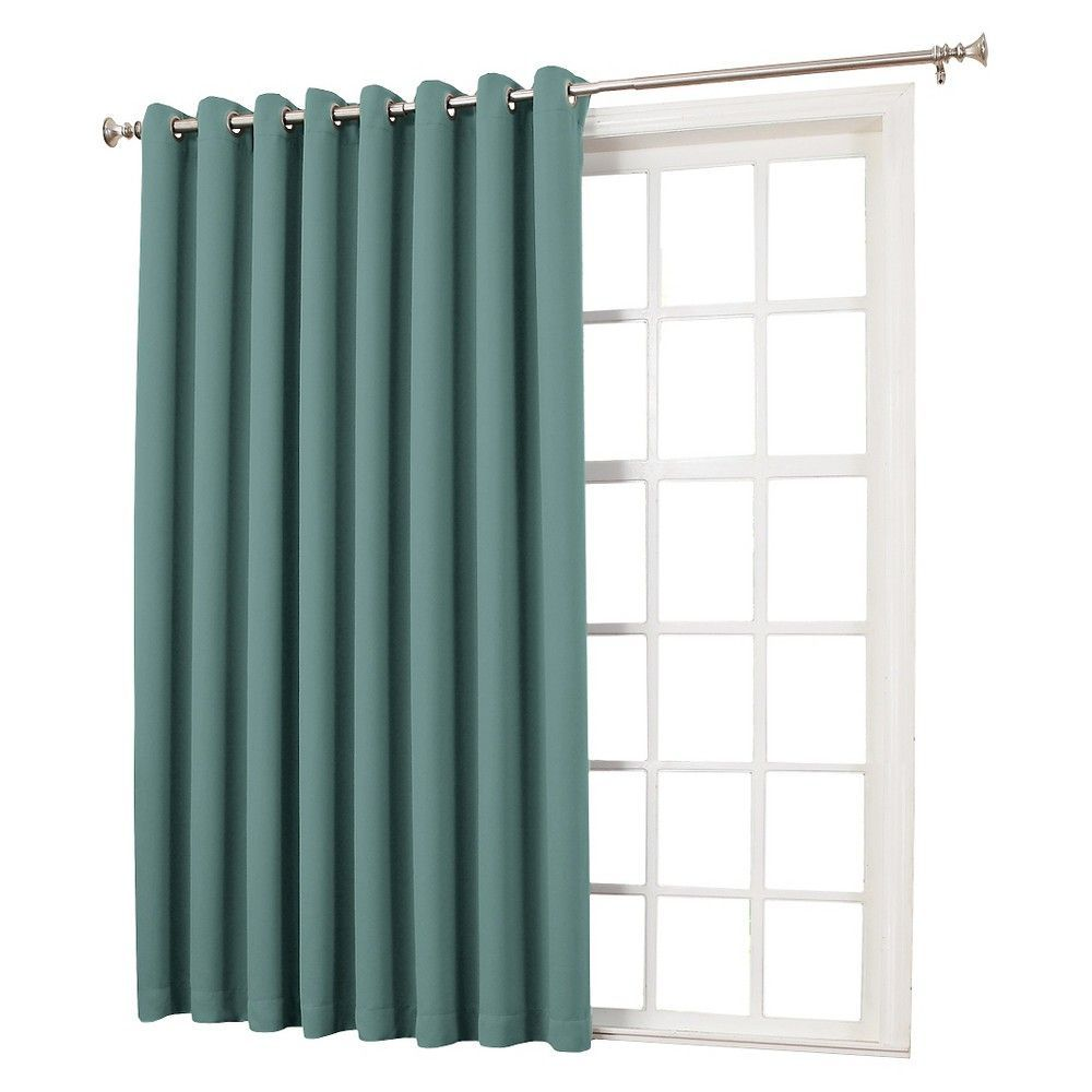 Seymour Extra Wide Energy Efficient Patio Door Curtain Panel Mineral