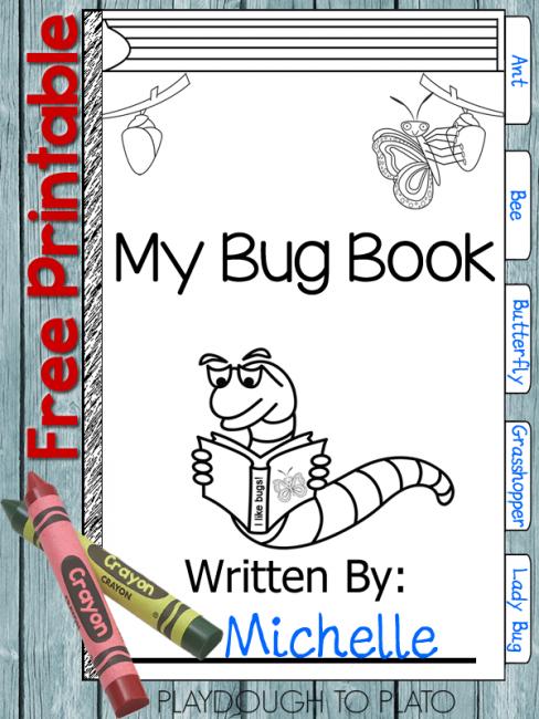 Free Printable Bug Book Bloggers Fun Family Projects Pinterest - Free-printable-preschool-books