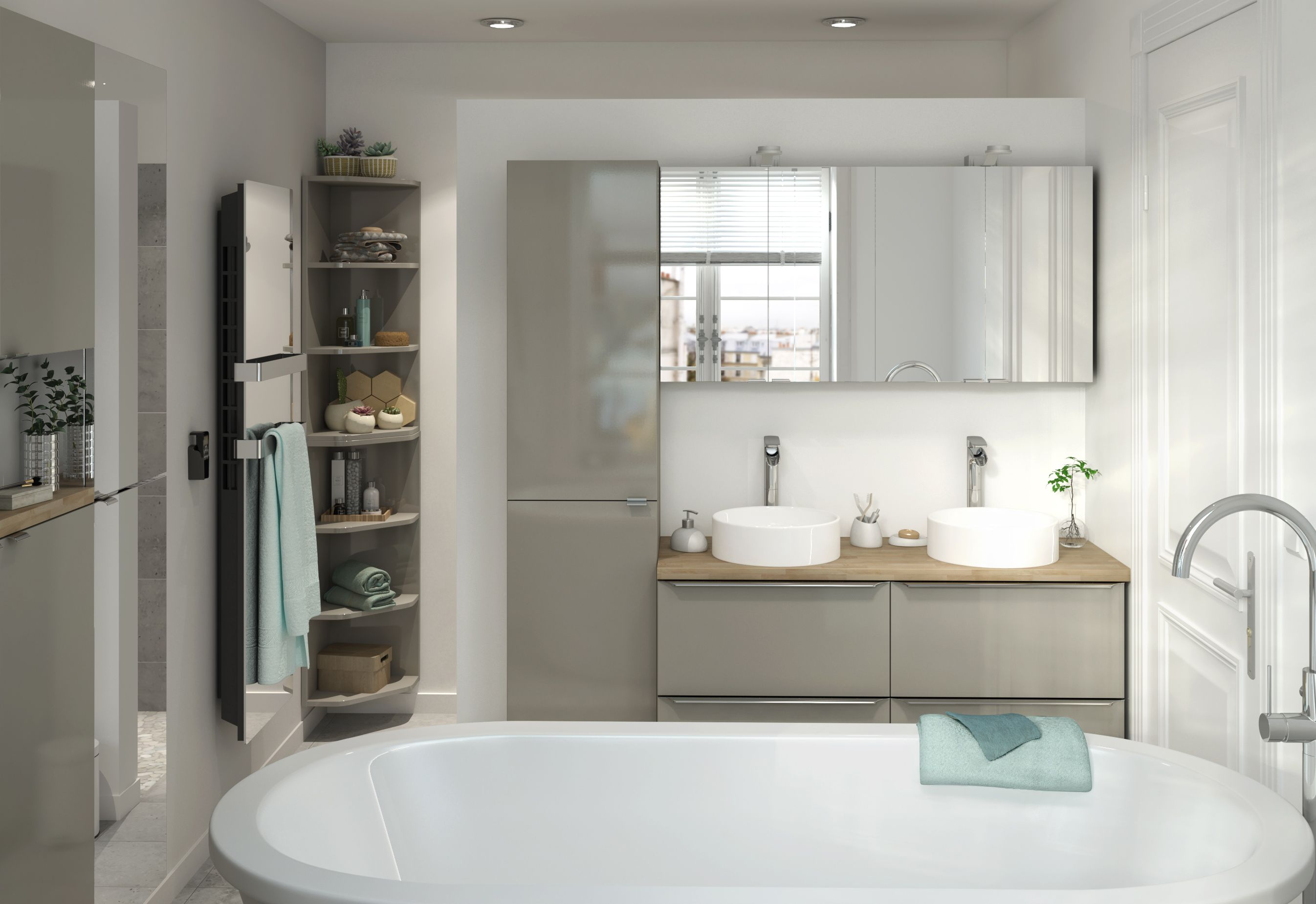 The Imandra Bathroom Range From B Q Is Available In A Selection Of Shapes And Sizes To Fit An Bathroom Design Luxury Stylish Bathroom Bathroom Cabinets Designs