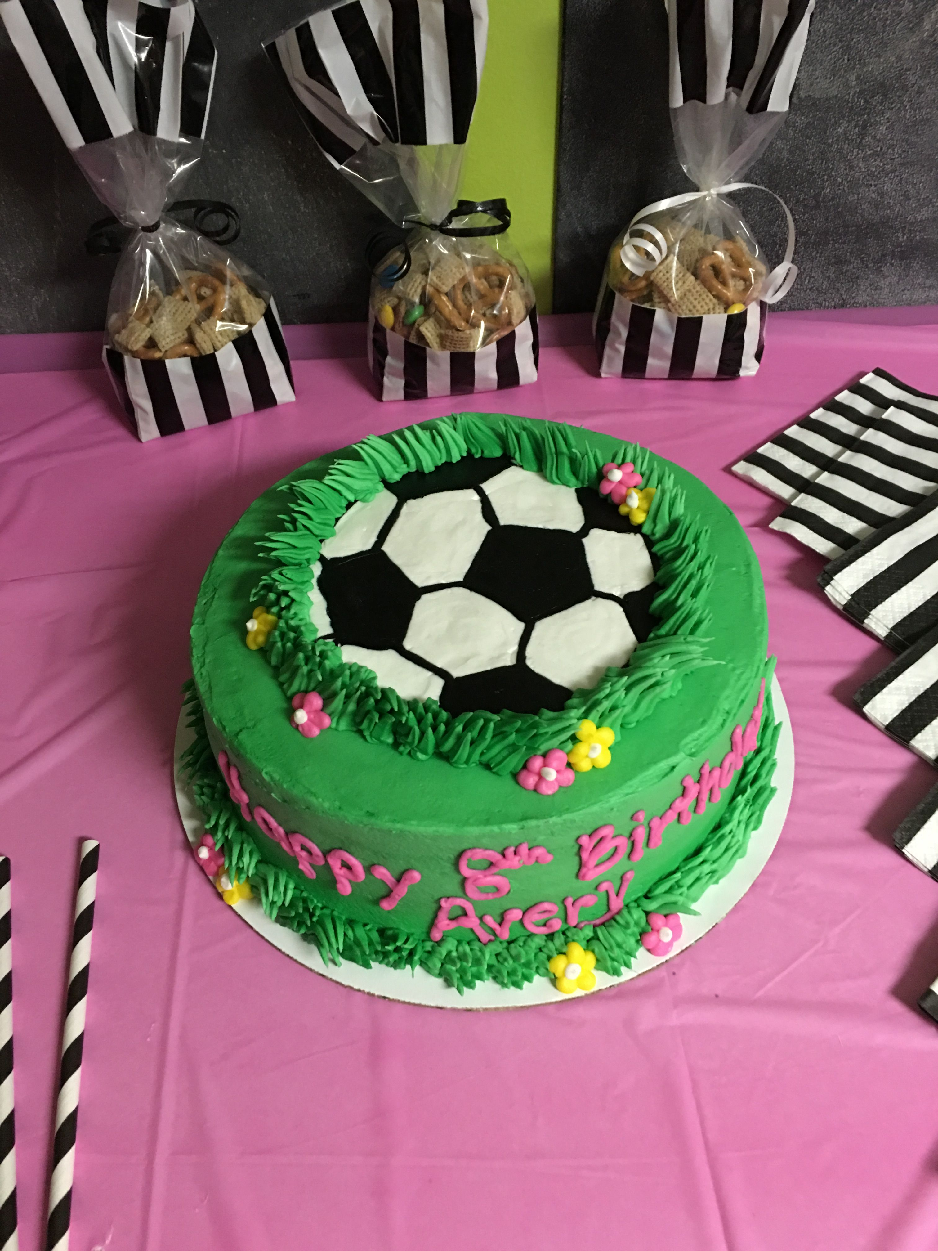 Remarkable Girl Soccer Birthday Cake With Images Soccer Birthday Cakes Personalised Birthday Cards Paralily Jamesorg