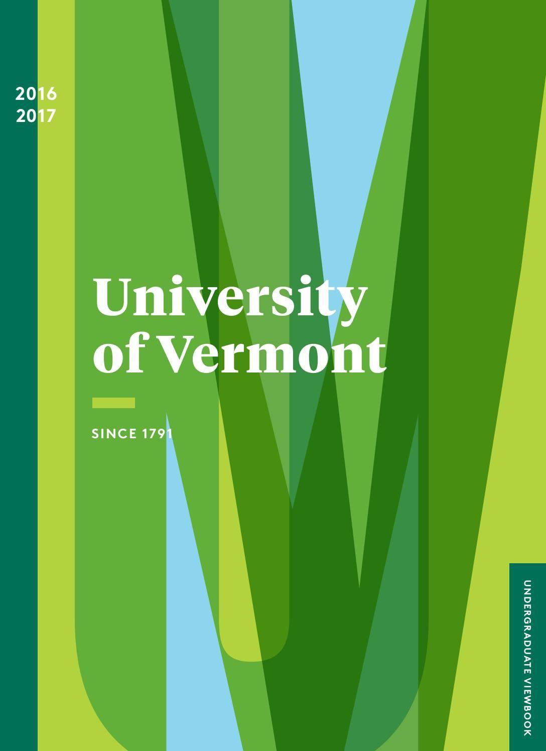 University of Vermont 2016 Admissions Viewbook
