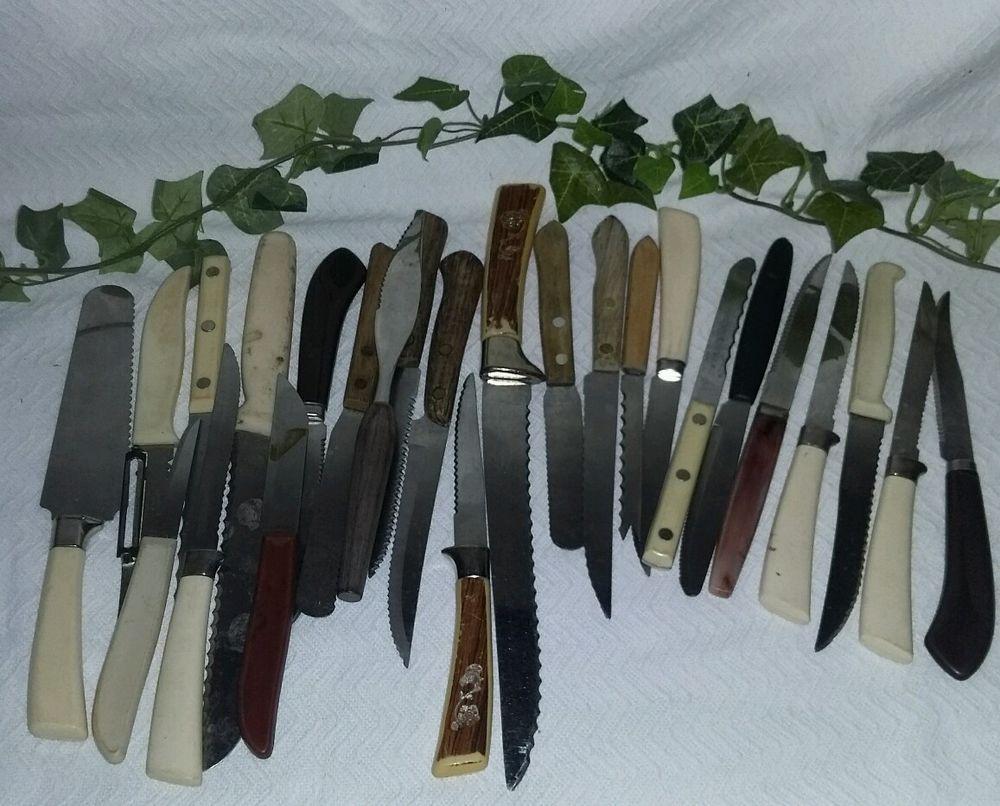 $29.96 or best offer Kitchen Knives Lot 25 Vintage Junk Drawer Simmons Forgecraft #Unbranded