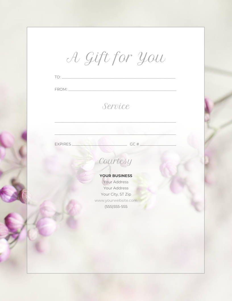 5 Ways To Make Your Gift Certificates Extra Special This Year Massage And Spa Success Free Gift Certificate Template Gift Certificate Template Massage Gift Certificate