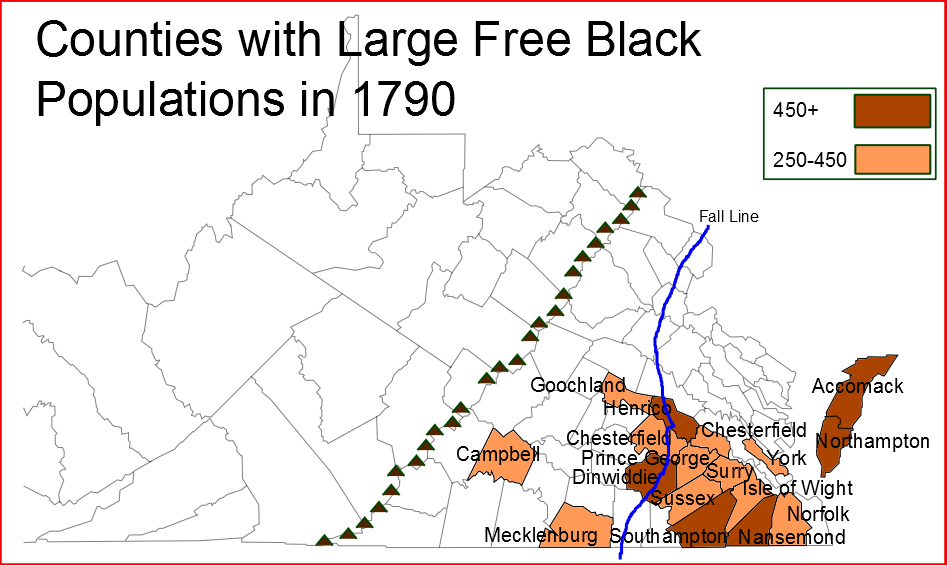Half Of The Virginia Free Black Population Lived In The Tidewater
