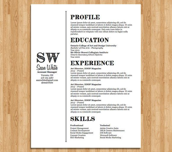 Resume Template Custom Designed And Editable Clean And Simple