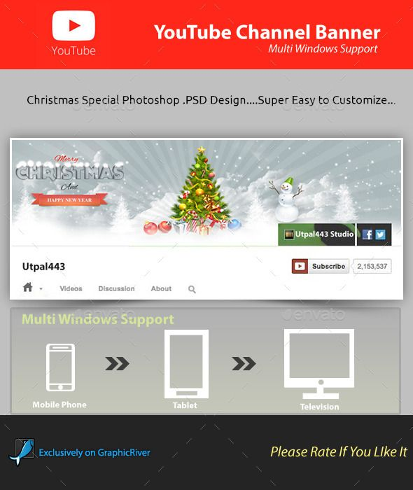 Christmas Youtube Channel Banner | Banners, Youtube and Banner template