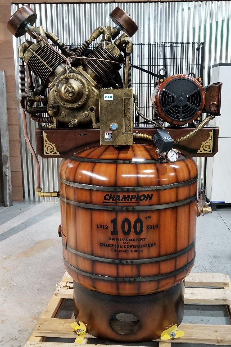 Compressor I painted for semashow2018 Custom paint