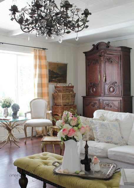 French Country Cottage Summer Living Room Stunning
