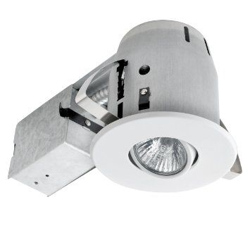 Globe Electric 90540 4 Inch Recessed Lighting Kit Swivel White Finish Spot Light Contract Recessed Lighting Kits Recessed Lighting Globe Electric