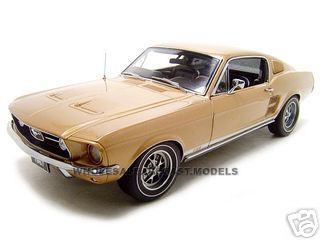 1:18 ford mustang gt 390 1967 (gold)