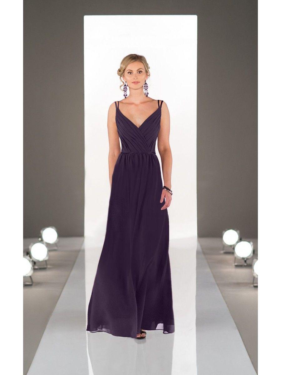 Lilac Glitter V Neck Spaghetti Straps Prom Dress | Sparkle