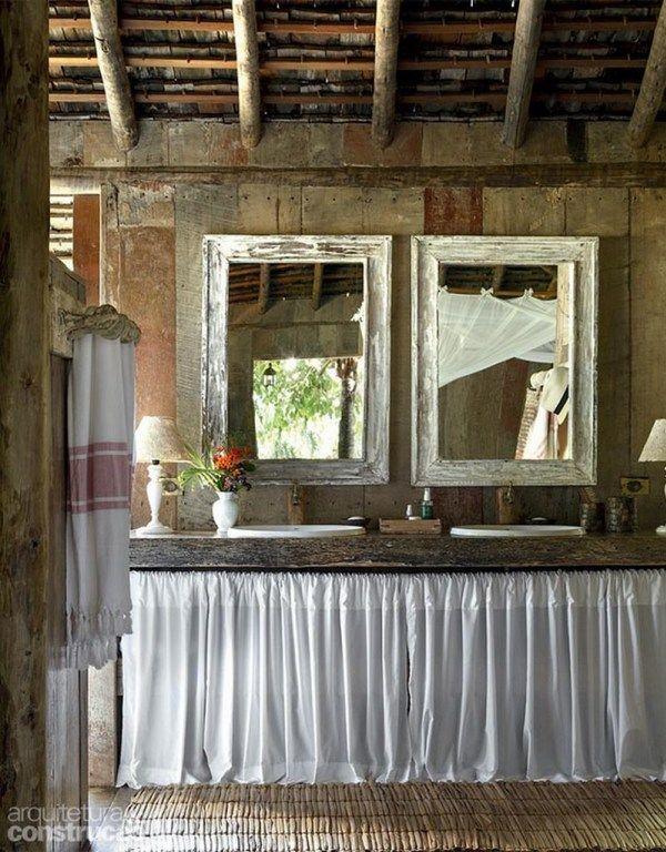 baños rústicos baños Pinterest