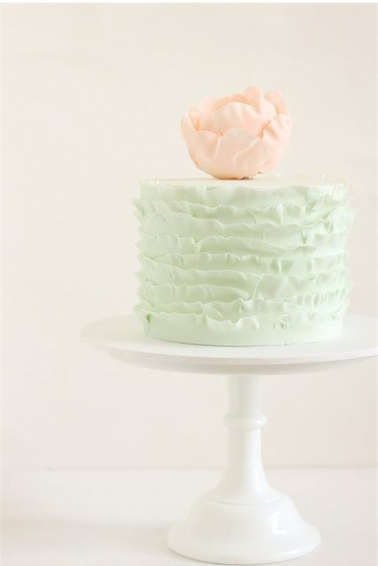 peach and mint green party cake parties and entertaining Girls
