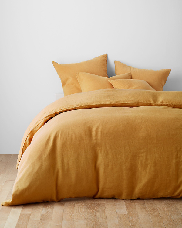 Solid Relaxed Linen Duvet Cover In 2020 Linen Duvet Covers Pillow Covers Linen Bedding