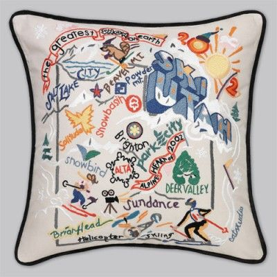 ski utah pillow - love it!