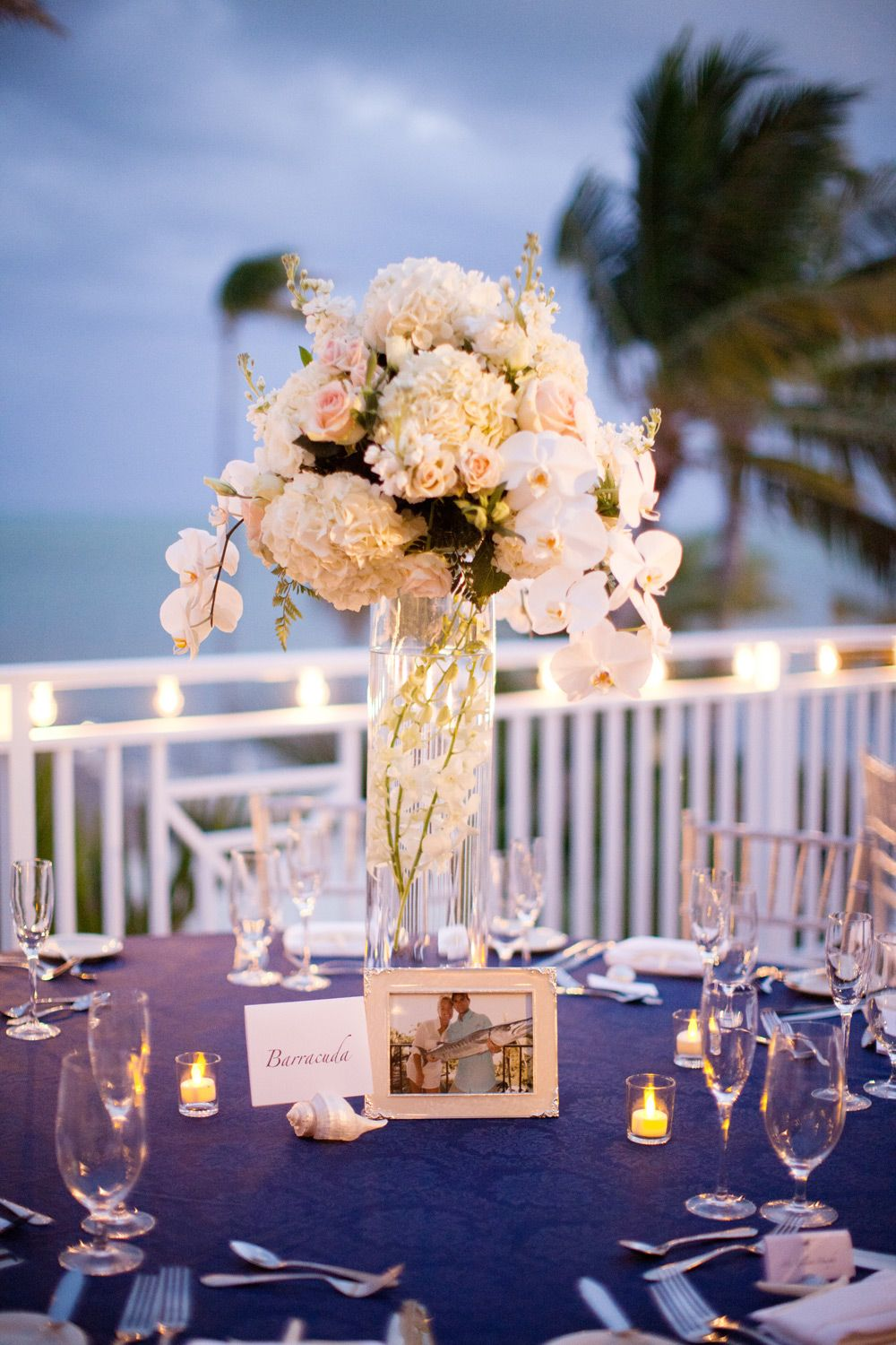 Beach wedding decorations elegant  Elegant Islamorada Beach Wedding  Pinterest  Centerpieces Water