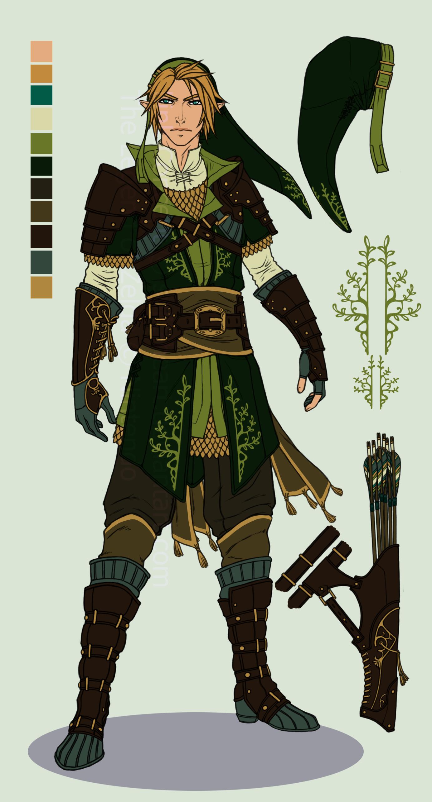 Character Design Challenge Zelda : Beautiful legend of zelda inspired costume designs
