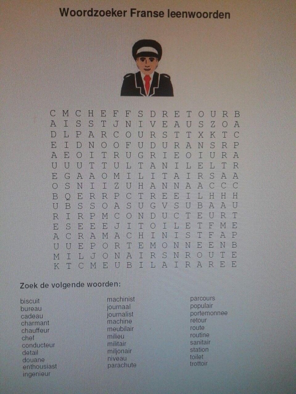 Beroemd Woordzoeker, spelling thema 8 week 2. Dit sluit aan bij Taal &QX19
