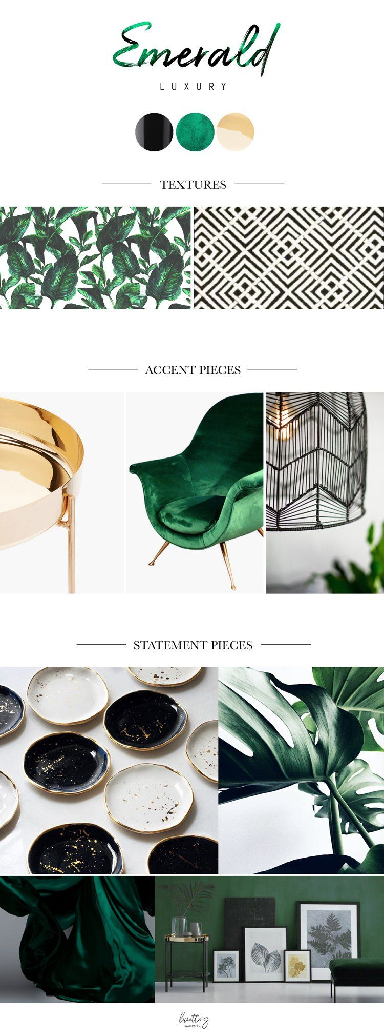 Emerald Inspired Living Room Mood Board images