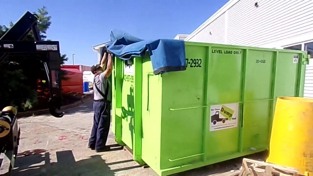 Bin There Dump That Dumpster Expert Tarps The Bin Dumpster Dumpster Rental Rent A Dumpster