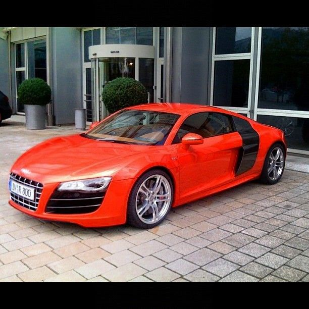 Red / Black #Audi #R8 -- just because we like things in Red and Black.