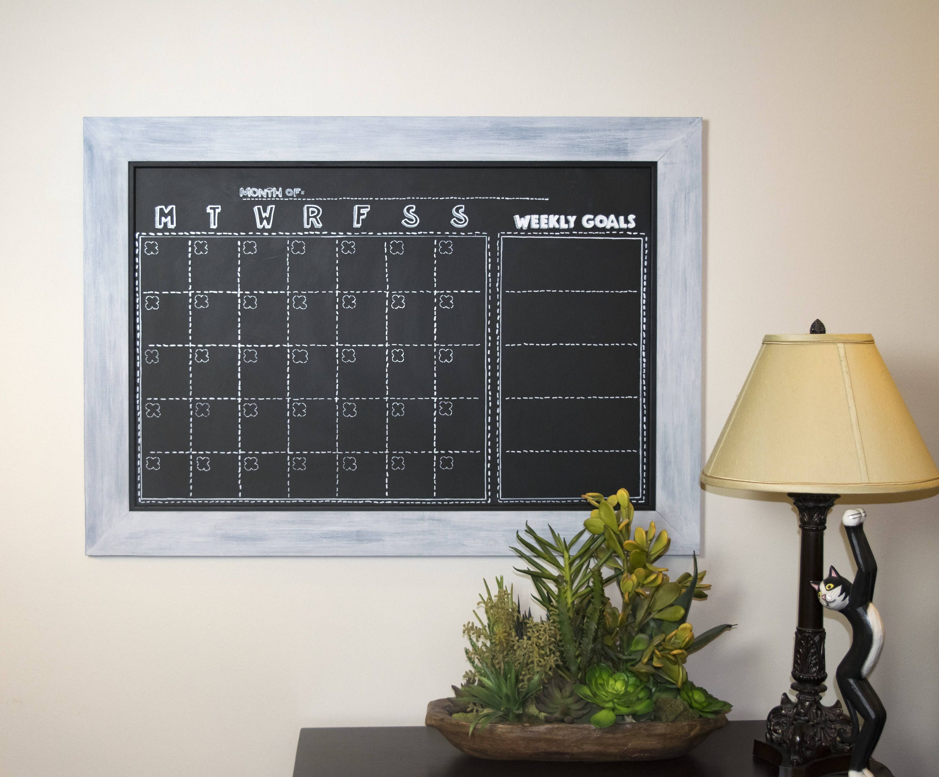 Custom Large Magnetic Chalkboard  Hand Painted  Custom Layout