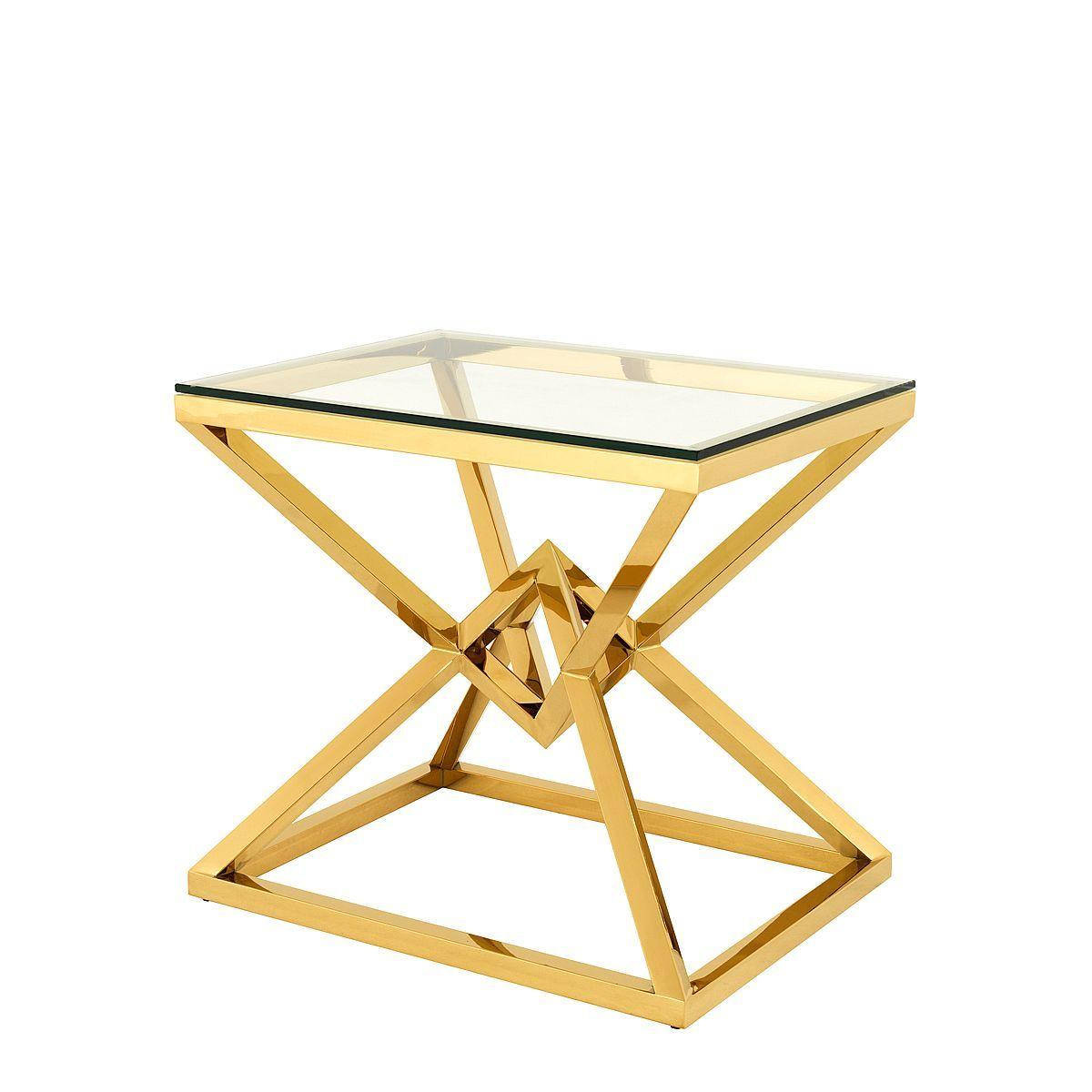 Eichholtz Side Table Connor Gold Wohnzimmermobel Modern Glas