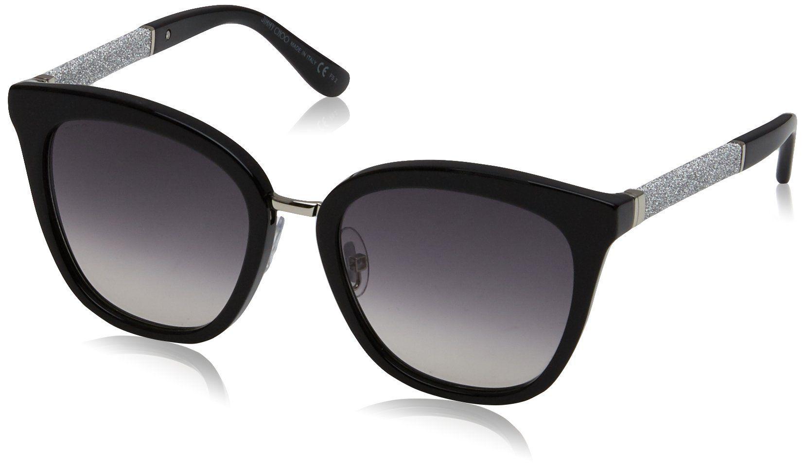 Jimmy Choo Fabry Sunglasses - Black & Glitter Black