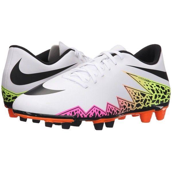 Nike Hypervenom Phade II FG (White/Total Orange/Volt/Black) Men's