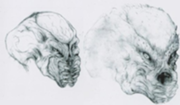 Early Predator face concepts by Stan Winston