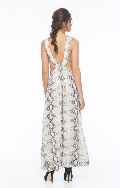 Ready for the plunge in the Titanium Maxi Dress xx #inherindah