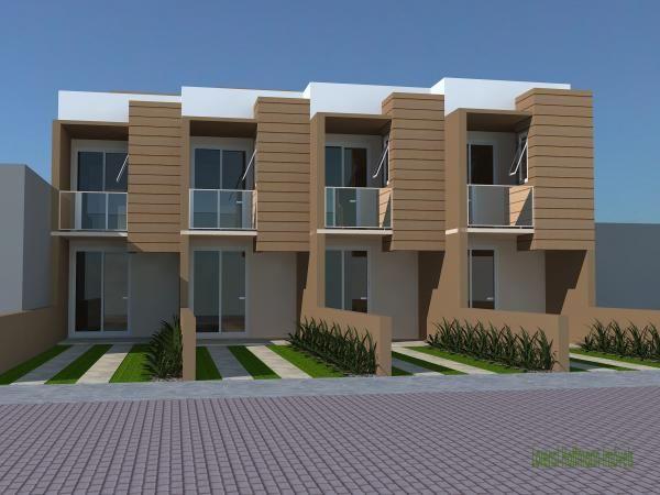 Sobrados geminados pequenos 5 sobrados pinterest for Fachadas de apartamentos pequenos
