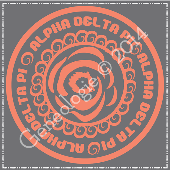 Geneologie | Greek Tee Shirts | Greek Tanks | Custom Apparel Design | Custom Greek Apparel | Sorority Tee Shirts | Sorority Tanks | Sorority Shirt Designs  | Sorority Shirt Ideas | Greek Life | Hand Drawn | Sorority | Sisterhood | ADPi | Alpha Delta Pi | Stamp | Bid Day | Recruitment