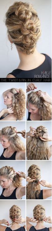 Acconciature capelli ricci semplici e veloci